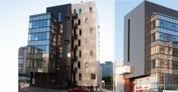 Фасад центрального офиса «Linella», Mircea cel Bătrîn 11/6
